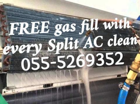 emergency ac services 055-5269352 free gas fill split clean - ניקיון