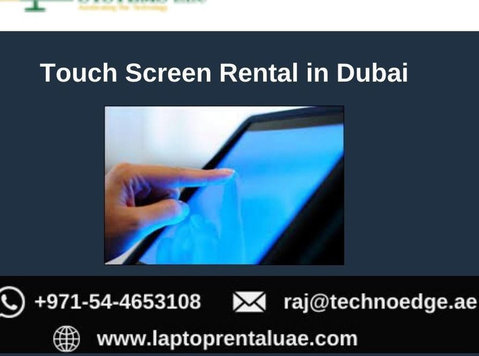 Make your Event Successful with Touch Screen Rental Dubai - Services: Other
