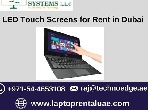 Rent Led Touch Screen at Techno Edge Systems in Dubai - Sonstige