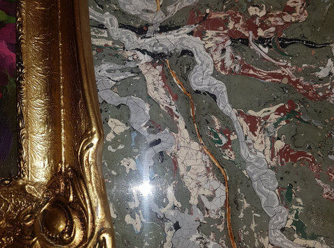 Stucco veneziano venetian plaster columns design - ก่อสร้าง/ตกแต่ง