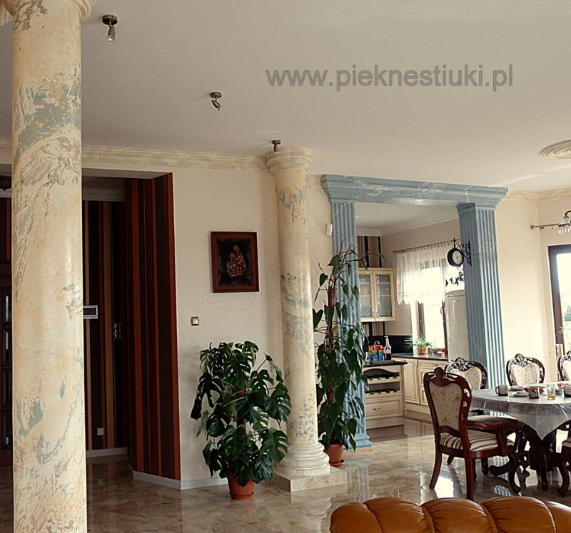 Stucco veneziano venetian plaster columns design building for Stucco columns
