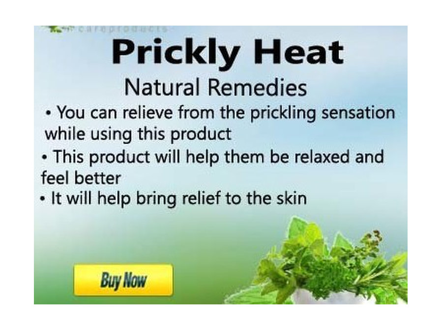 Herbal Products for Prickly Heat - Beauty/Fashion
