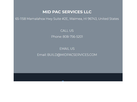 General Contractor in Kamuela, Hi: Mid Pac Services LLC - Household/Repair