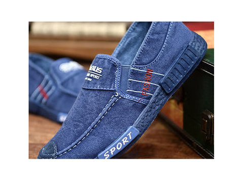 Men Splicing Leather Sport Casual Sneakers and much more - Clothing/Accessories