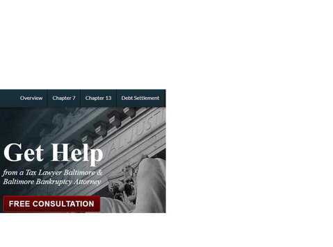 Get Help with Bankruptcy in Baltimore, Md - Legal/Finance