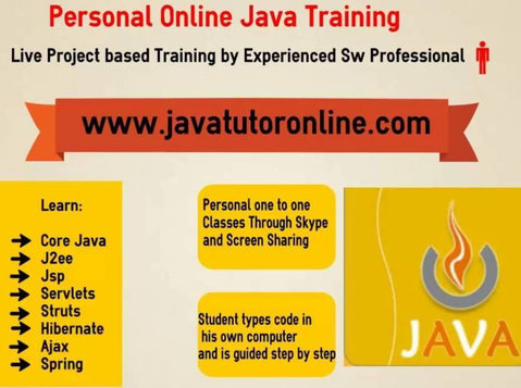 Online Java Tutor-Private Online Java Training by 15 Yrs Exp - Classes: Other
