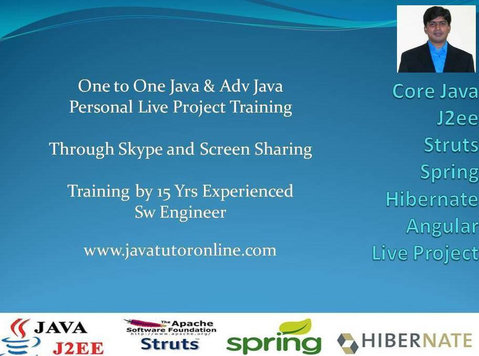 Online Java Tutor | Java J2ee Training by 15 Yrs Exp Sw Pro - Classes: Other