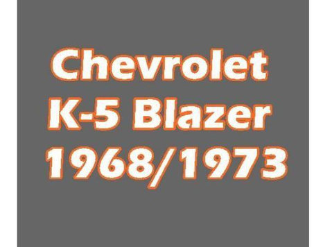 Chevrolet K-5 Blazer 1968/1973 - Services: Other