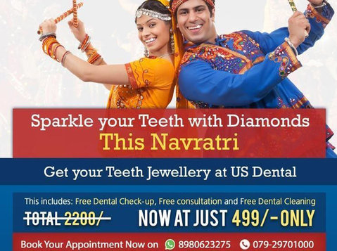 Sparkle your Teeth with Diamonds This Navratri + Free Dental - Services: Other