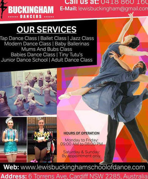 Junior dance school Newca | Lewis Buckingham School Of Dance - Music, Theatre, Dance