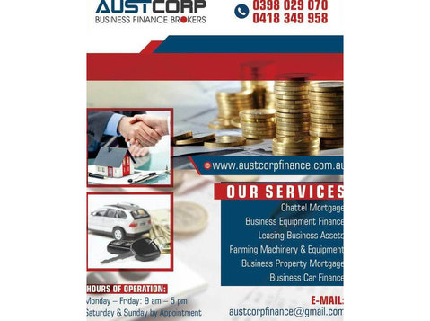 Business Asset Purchase Melbourne | Austcorp Finance - Financial consultants