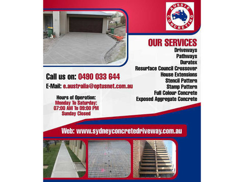 Concrete Contractors Sydney | Aussie Concreting - Painters & Decorators
