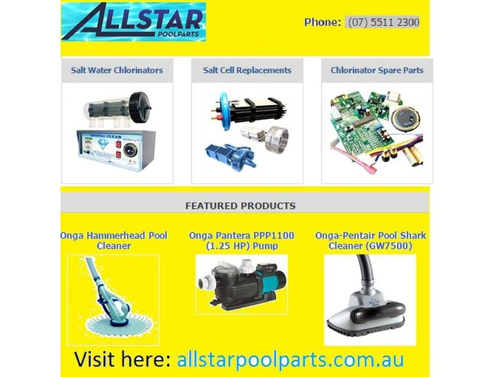 Allstar Poolparts Australia - Swimming Pool & Spa Services