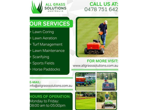 Lawn Coring Contractors Redlands | All Grass Solution - Gardeners & Landscaping