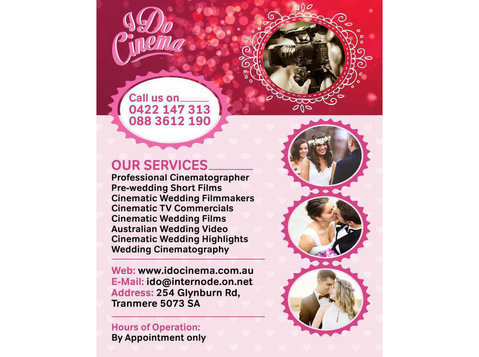 Wedding Video Maker Adelaide | I Do Cinema - Movies, Cinemas & Films