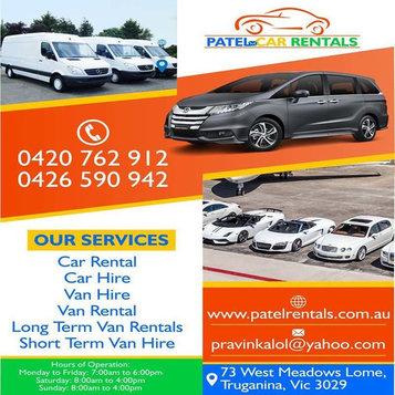 Patel Car Rentals | Car hire company Truganina - Car Rentals