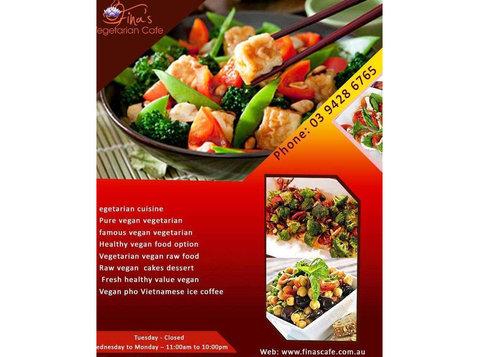 Pure vegan vegetarian Northcote | Finas Vegetarian - Restaurants