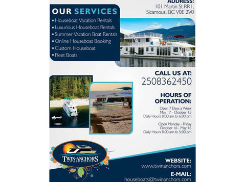 Twin Anchors Houseboat Vacations - Yachts & Sailing