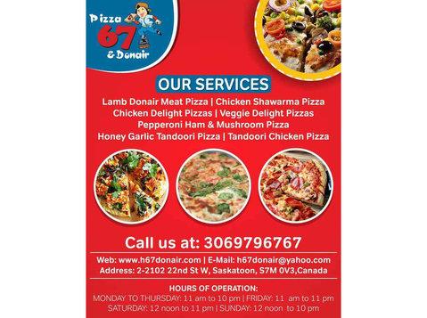 Veggie Delight Pizzas Saskatoon   H 67 Donair - Restaurants