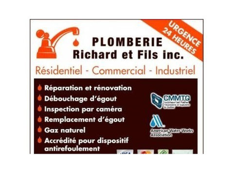 Plomberie Richard et Fils inc - Plumbers & Heating