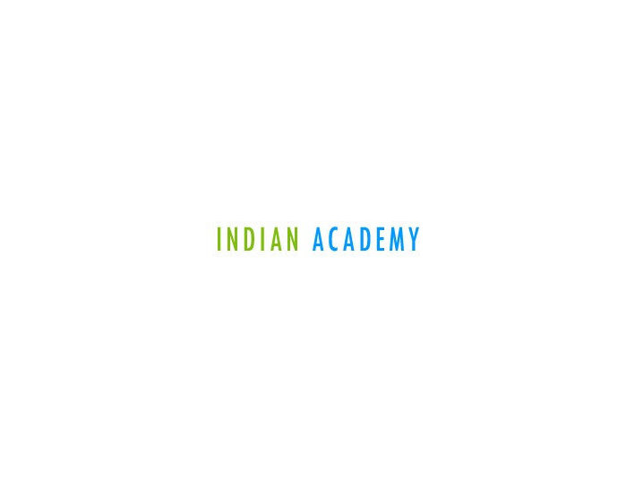 Indian Academy College - Business schools & MBAs