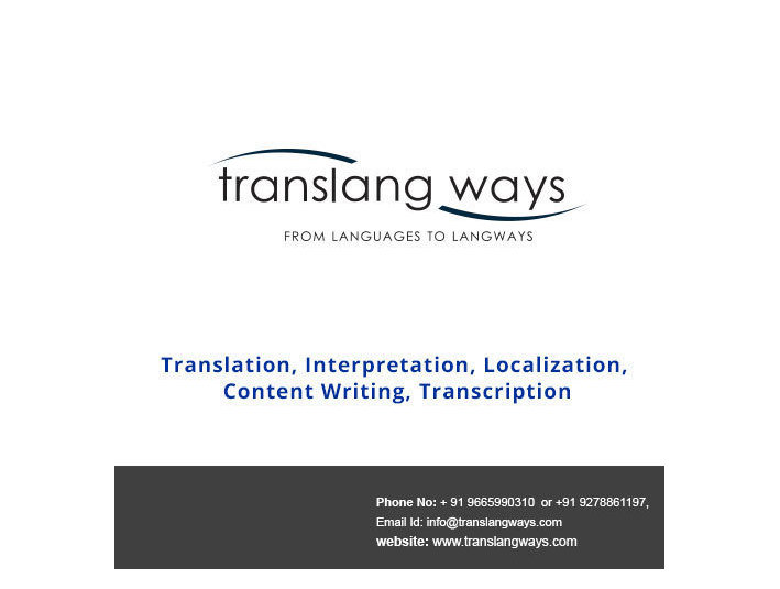 TransLang Ways Private Ltd. - Překlady