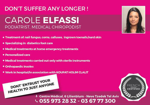 Carole Elfassi, Podiatrist.medical Chiropodist.podologue - Alternative Healthcare