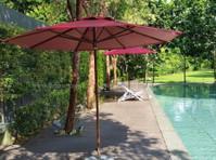zebano garden umbrella (1) - Furniture