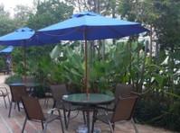 zebano garden umbrella (2) - Furniture