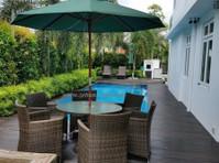 zebano garden umbrella (3) - Furniture