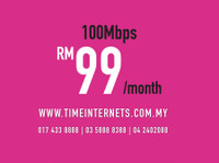 Time internet   100mbps Only Rm99 Easy and Fast Approval (2) - Internet providers