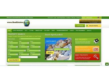 www.RealEstates-in.com - Estate portals