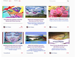 Walking on watercolor clouds-watercolor painting lessons - Online courses