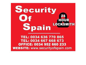 Security of Spain Locksmiths - Security services