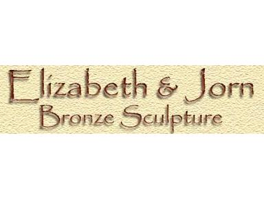 Elizabeth and Jorn Bronze Sculpture - Museums & Galleries