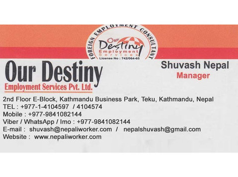 Our Destiny Employment Services Pvt. Ltd. - Employment services