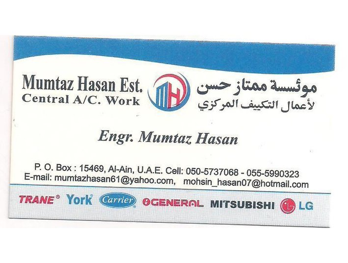 Mumtaz Air-Conditioning Est. - Plumbers & Heating
