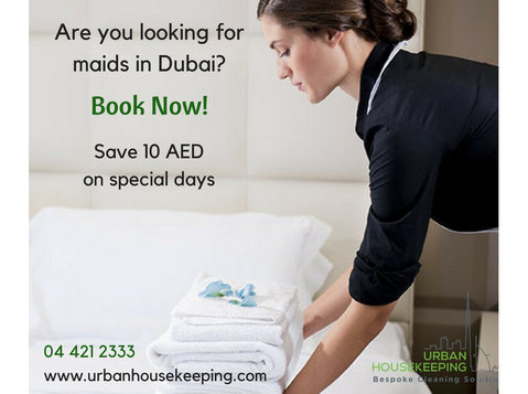 Maid Cleaning companies Dubai (Urban Housekeeping) - Cleaners & Cleaning services