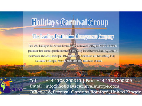 Holidays Carnival Europe - Travel Agencies
