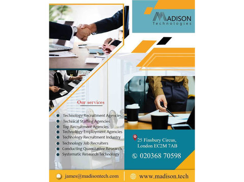 Systematic Business Consulting London | Madison Technologies - Employment services