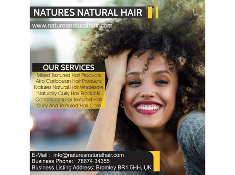 Curly And Textured Hair Care Lewisham | Natures Natural Hair - Cosmetics