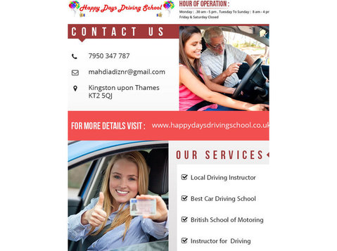 Happy Days Driving School - Driving schools, Instructors & Lessons