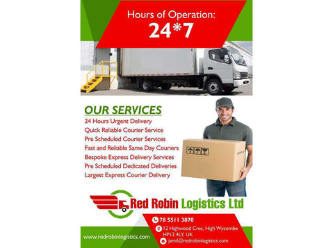 Parcel service London | Red Robin Logistics Ltd - Postal services