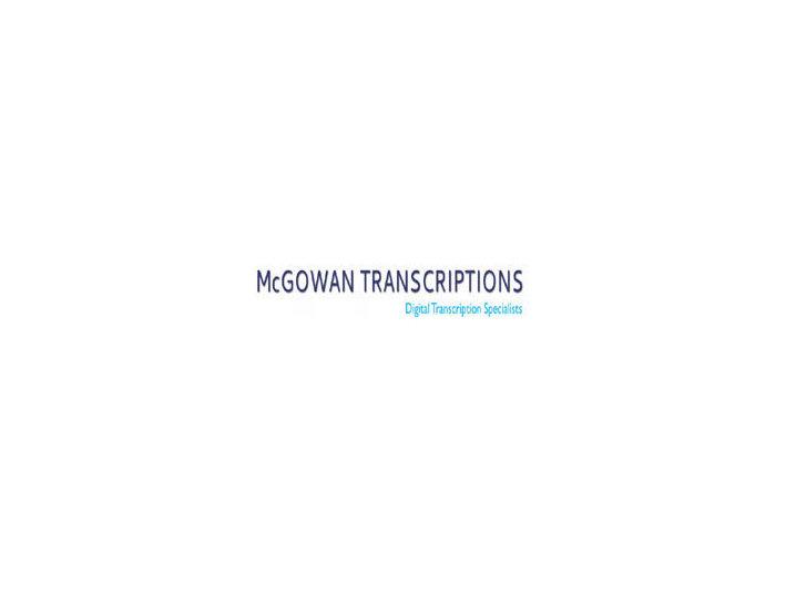 mcgowantranscriptions.co.uk - Consultancy
