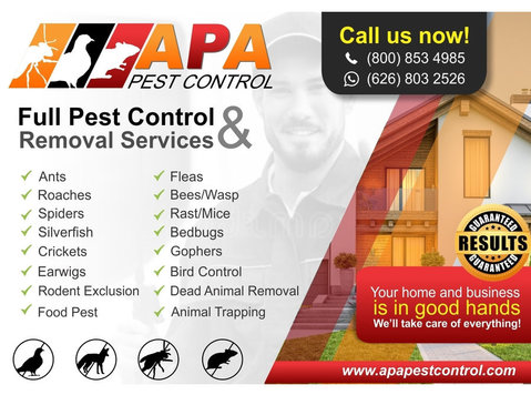 PROFESSIONAL PEST CONTROL SERVICES - Cleaners & Cleaning services