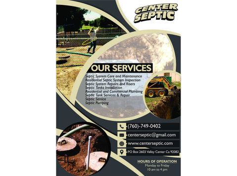 Septic Pumping Valley Center | Center Septic - Septic Tanks