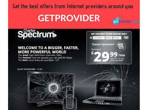Get Provider - Internet providers