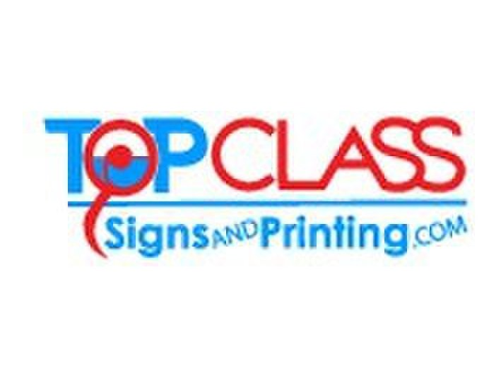 Top Class Signs and Printing - Print Services