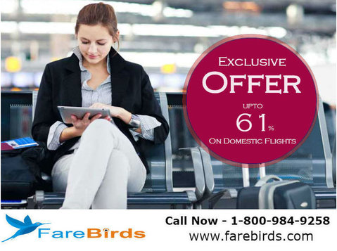 Book Cheap Airline Tickets Online at Farebirds - Travel Agencies