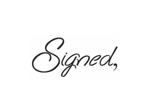 Signed Cards - Marketing & PR